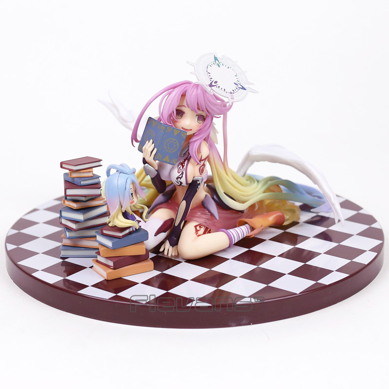 Anime NO GAME NO LIFE Jibril PVC Pre-painted Complete Figure Model Toy 14cm 20cm anime life no game no life shiro game of life painted second generation game of life 1 7 scale pvc action figure model