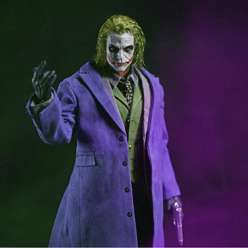 1/6 Joker Heath Ledger MJ12 Head Sculpt Toys Phicen for 12 Action Figure Doll Toys for DX01 DX11 Narrow Shoulder Male Body Toys