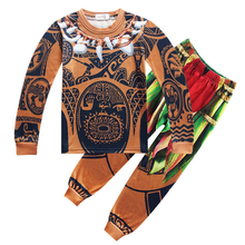 Hot Moana Pajamas Maui Baby Clothes Vaiana Cosplay Winter Child Boutique Clothing Children Costume Toddler Boys SleepWear 3-10Y