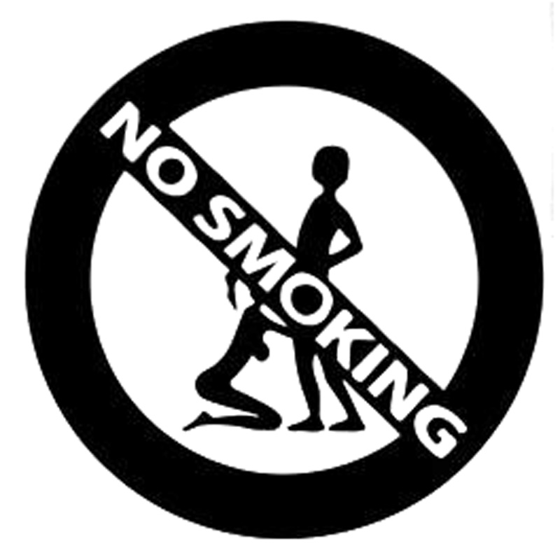 13.5cm*13.5cm Girl And Boy No Smoking Fashion Car-Styling Stickers Decals Black/Silver S3-6265