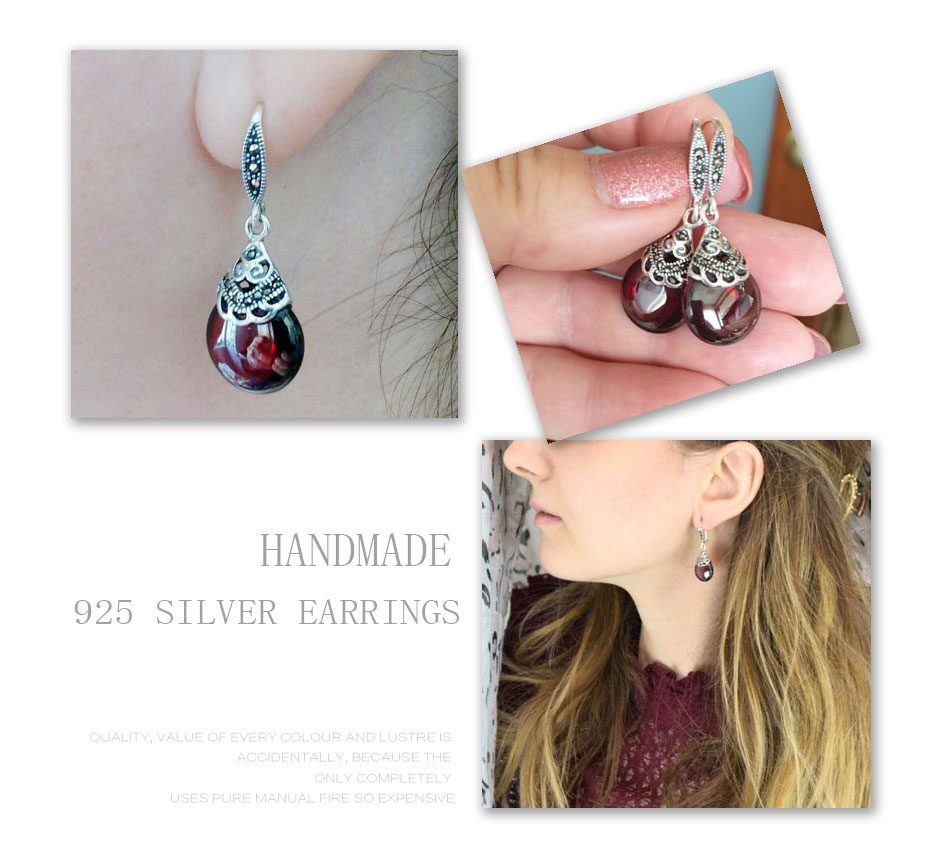 HTB1Ou7UxmBYBeNjy0Feq6znmFXab - JIASHUNTAI Retro 100% 925 Sterling Silver Round Garnet Drop Earrings For Women Natural Red Gemstone Ruby Fine Jewelry Best Gifts