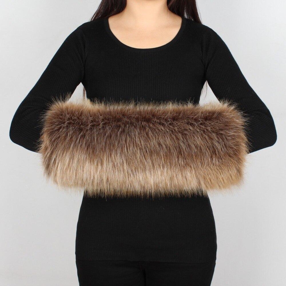 Fashion Lady Faux Fur Winter Warm Multicolor Fox Fur Fleece Lining Thicken Hand Wrist Hand Warmer Large Size Fur Gloves 6q2397 Delicious In Taste Apparel Accessories