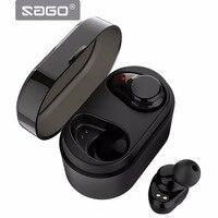 SAGO True Wireless Sport Earbuds Bluetooth Earphones X7 Noise Cancelling Headset BT4 2 IPX5 Waterproof Mega