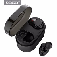 SAGO True Wireless Sport Earbuds Bluetooth Earphones X7 Noise Cancelling Headset BT4 2 IPX5 Waterproof Mega