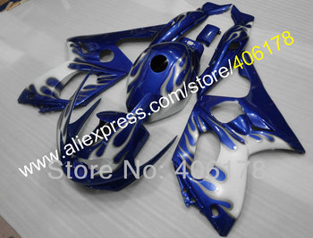 Motorcycles Aftermarket 1997-2007 YZF 600 Body Kit Fairing For Yzf-600R Thundercat 97-07 Blue Flame Fairings