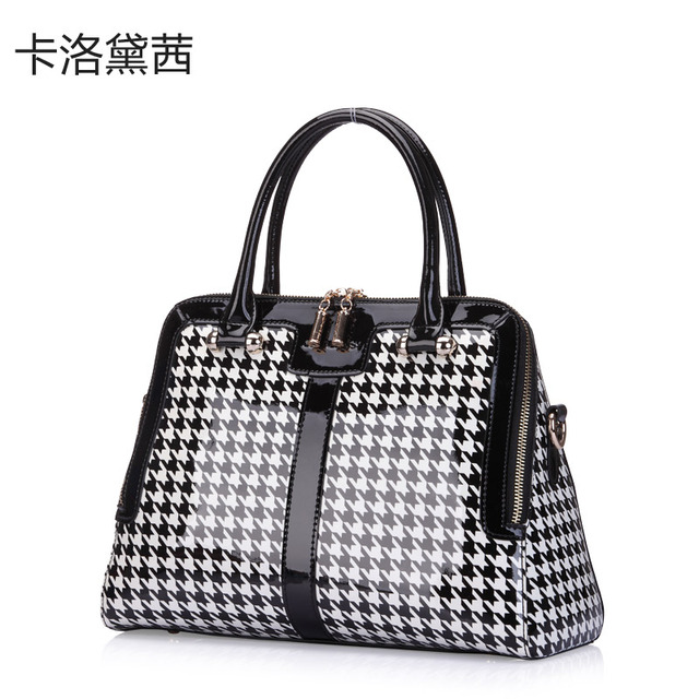 Coraldaisy New  2013 Women Bags Plover texture Handbag  Patent Leather  Shell Shoulder Bags  Women Messenger Bag