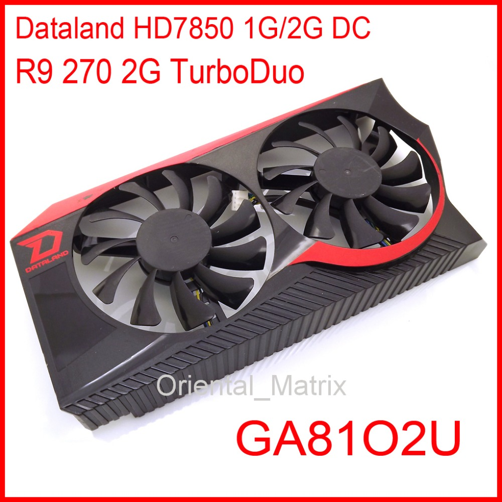 Free Shipping GA8102U 12V 0.38A For Dataland R9 270 2G TurboDuo HD7850 1G 2G DC Graphics Card Cooling Fan 4Wire 4Pin free shipping t128015su msi r4770 hd4770 4pin pwn graphics card fan