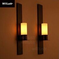 Willlustr Timmeren e Ekster arandela vidro fosco luz do vintage lâmpada da vela de ferro iluminação de parede réplica Kevin Reilly Luminárias de parede Luzes e Iluminação -