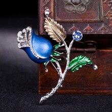 Yimeirui cloisonne enamel craft boutique Flower Brooch female fashion simple font b accessories b font wholesale