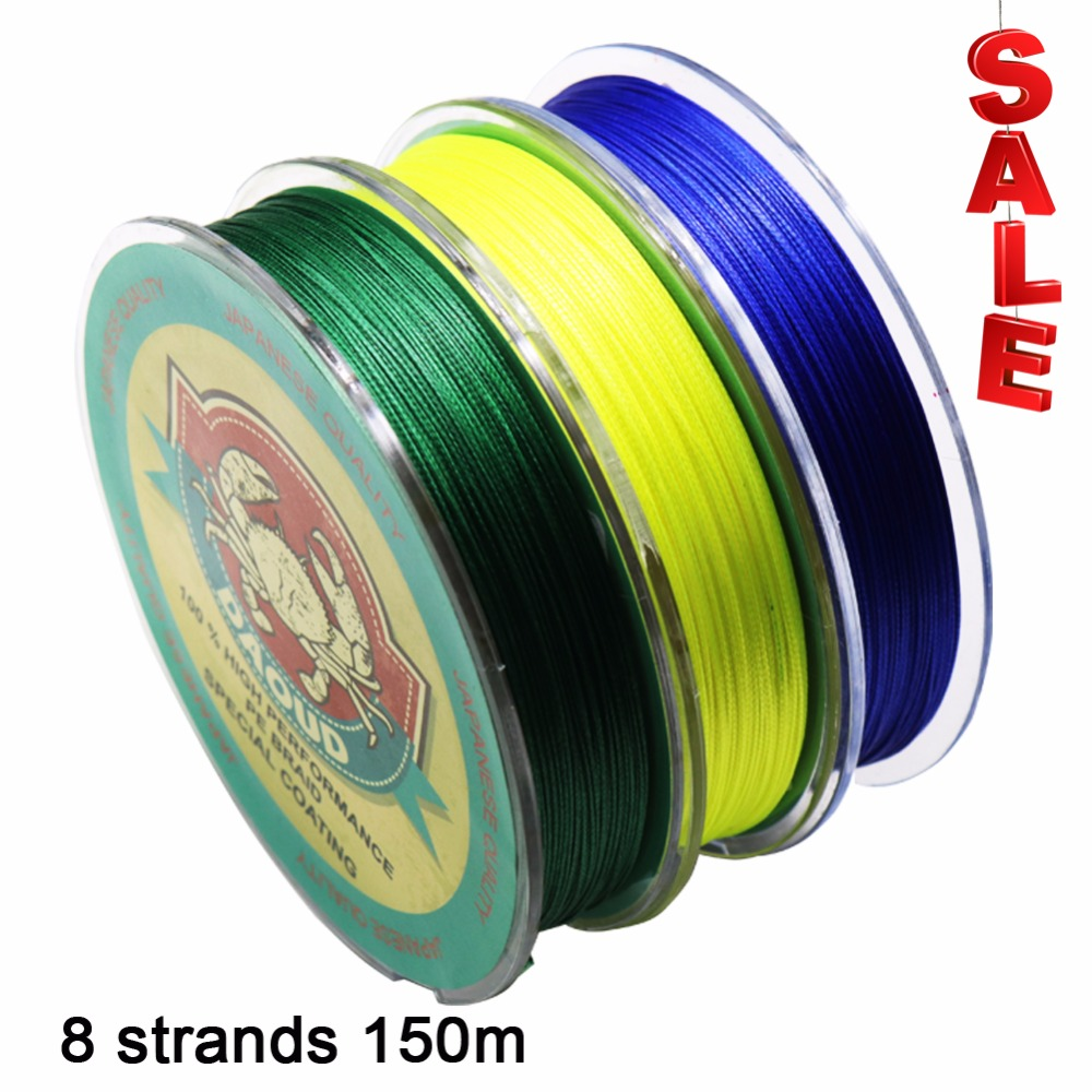 Daoud SuperPower 8 Strands Braided Fishing Line 150m Abrasion Resistant Braid Fishing Line  PE Strong Multifilament Fish Line