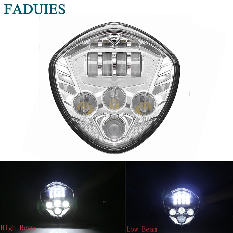 FADUIES New 1psc Motos accessories Motorcycle Led Headlamp for Victory Motorcycle LED Headlight Chrome For Victory cross-country цена