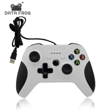 Data Frog Wired Gamepad With ABS Material Game Controller Joystick For Xbox one Slim For Xbox For Computer For PC White