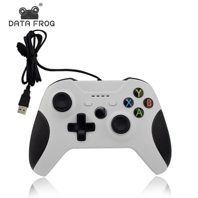 где купить Data Frog Wired USB Gamepad Game For Xbox one Controller Joystick For Xbox one Slim For Computer For PC White Gamepad по лучшей цене