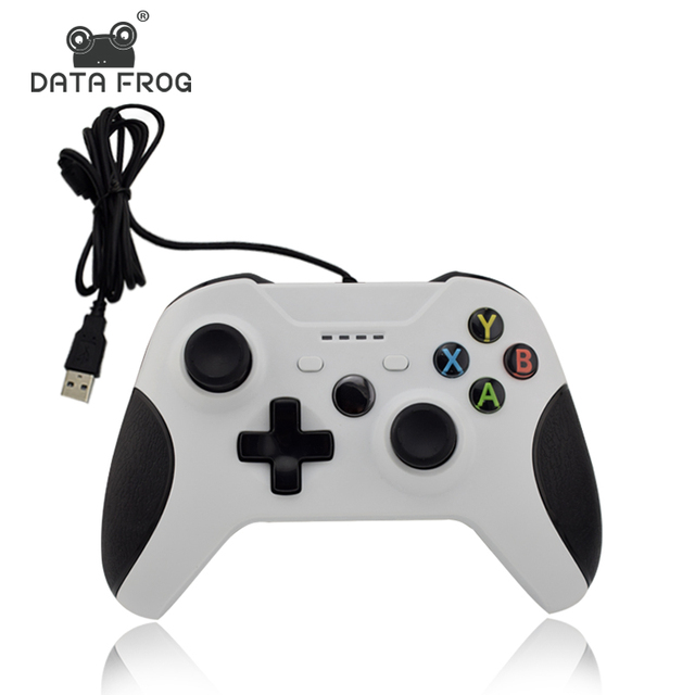Data Frog Wired USB Gamepad Game For Xbox One Controller Joystick