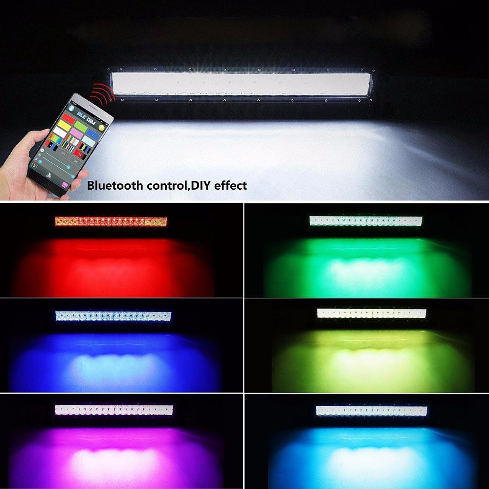 14 quot INCH 72W 5D Lens Led Light Bar Spot Flood Combo RGB Color Change Strobe Flash Music Rock Lamp For ATV SUV TRUCK BOAT 4WD 4X4 in Light Bar Work Light from Automobiles amp Motorcycles