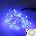 5 m 10 M 50 100 led 5 V USB led blanco cálido plata alambre de cobre cadena de luces de hadas de la decoración del banquete de boda de navidad de interior al aire libre