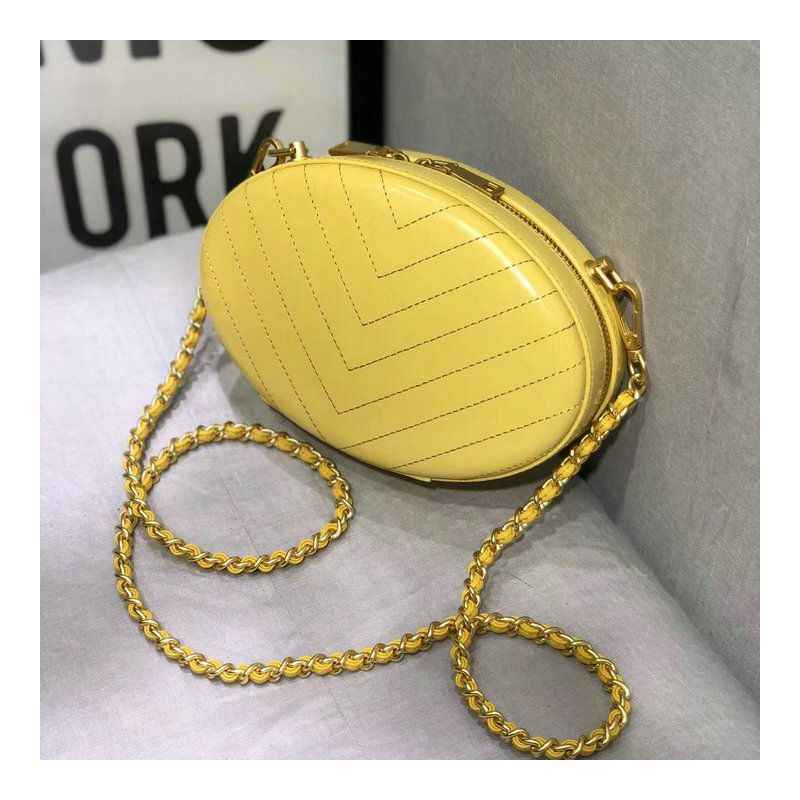 WOONAM Fashion Designer Handtas Echt Leer Oval Chain Strap Satchel Schouder Clutch Cross body Bag WB977