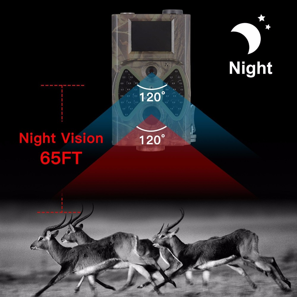 Фотография Suntek Photo Traps Deer Hunting Trail Camera 1080P 12MP 940nm Night Vision Hunting Camera Digital Infrared Camera Traps HC300A