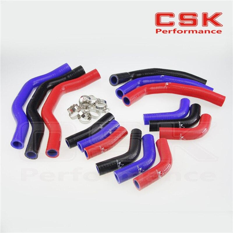 Силиконовый радиаторный шланг для Honda CRF450 CRF450R 06 07 08 09+ зажимы BK