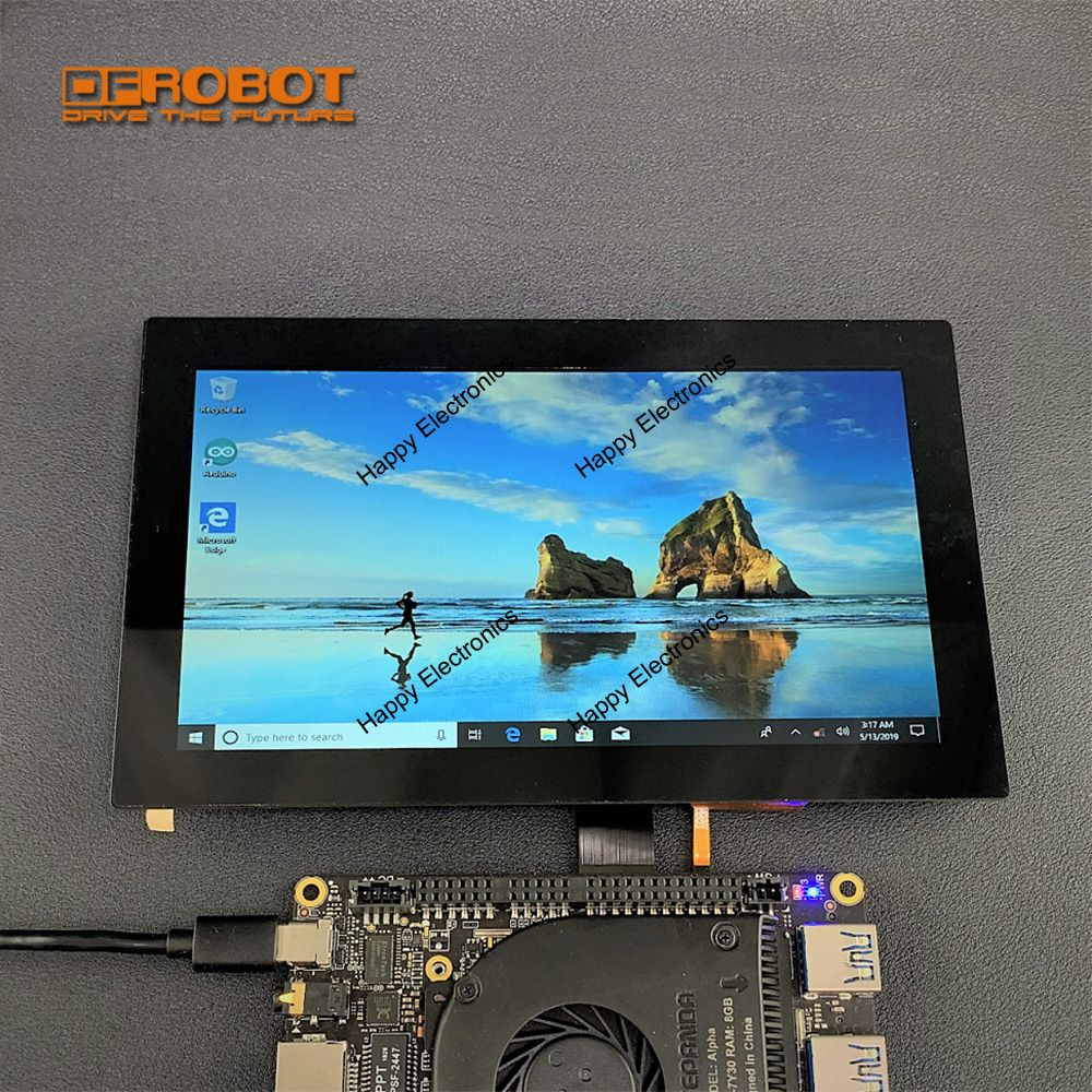 DFRobot 7 inches Touch Capacitive Screen Display eDP for LattePanda Alpha Delta 1024x600 high resolution color