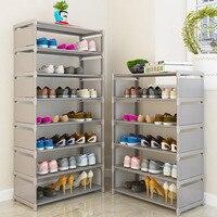 Простая подставка для обуви ментальный многослойный стеллаж хранение обуви современный минималистичный пылезащитный нетканый шкаф для об...