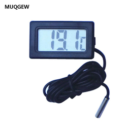 Цифровой мини-термометр MUQGEW с ЖК-дисплеем, 1 м, Черный термометр с датчиком, 1,5 В, высококачественный термометр для помещения и улицы