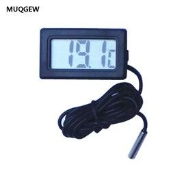 MUQGEW 1 м термометр Мини ЖК-дисплей цифровой термометр с датчиком черный 1,5 в высокое качество термометр Крытый Открытый