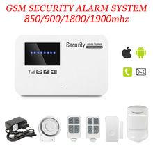 Marlboze 850/900/1800/1900 мГц Android IOS APP управления домашней безопасности GSM сигнализация поддержка Английский/русский/Испанский голос