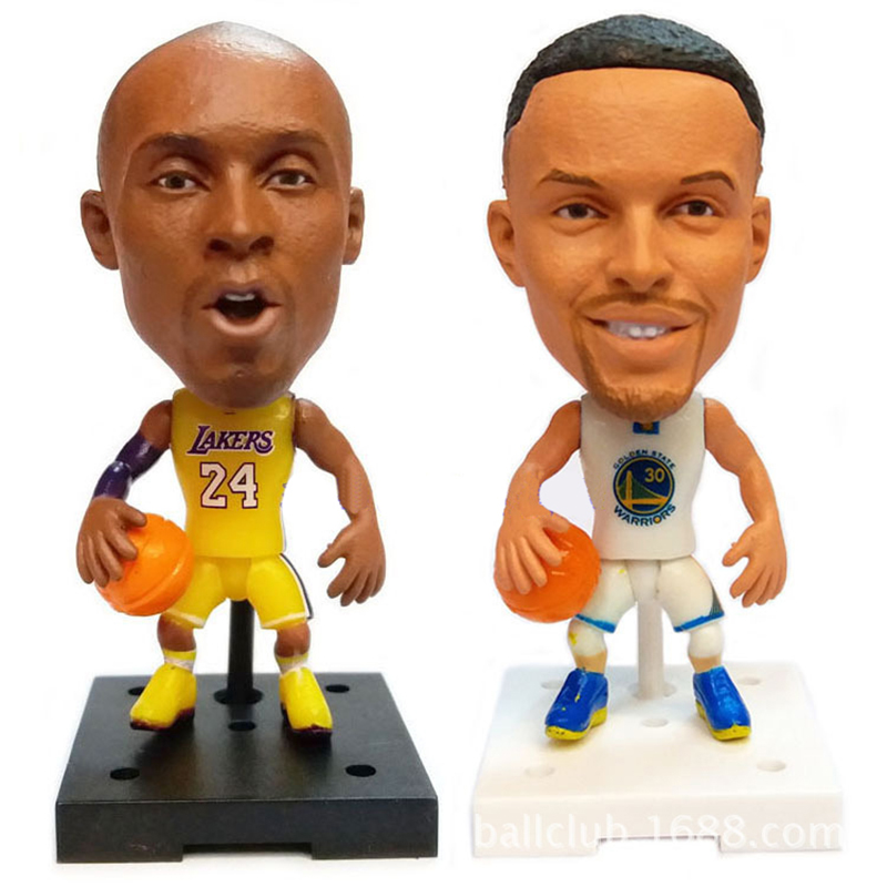 1pcs basketball star dolls NBA Player Star Kobe Bryant Durant Curry LeBron James 2.5 Action Dolls Figurine Toy Best Gift to kid image