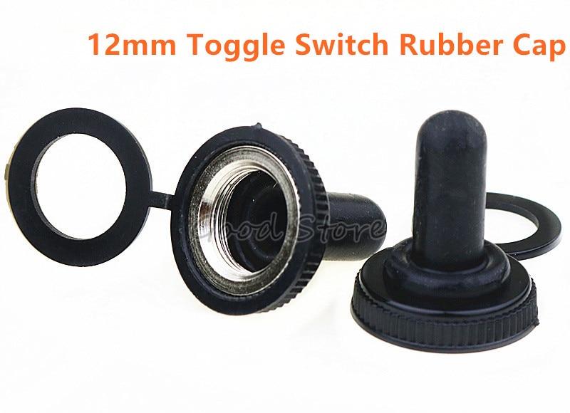 10 Pcs 12mm New Waterproof Switch Cap 15A 250VAC / 20A 125VAC E-TEN Rubber Cap Miniature Toggle Switches