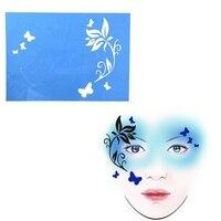 6 Sets Herbruikbare Gezicht Verf Sjablonen Voor Airbrush Make Schilderen Tijdelijke Tattoo Stencils Voor Halloween Kerstfeest