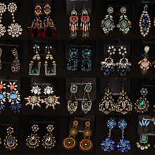expensive large earrings white gold blue red 4 colors luxury jewelry great jewellery high quality big drop earring for women Big Luxury Korean Earrings for Women Crystal Dangle Drop Earring Trendy Chandelier  Fashion Jewelry