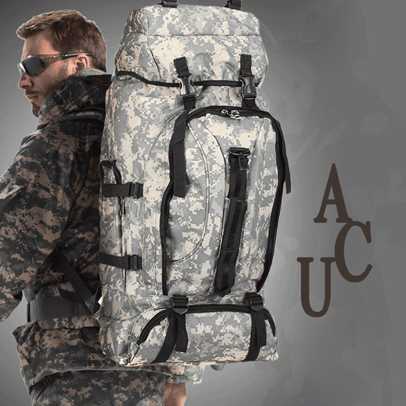 Outdoor 70L Camping Camouflage Backpack Hiking Mountaineering Travel Tent Military High Capacity Army Tactical Durable Men Bags 2018 new high capacity outdoor camping backpack men s camouflage hiking backpack waterproof sport tactical travel bags s008