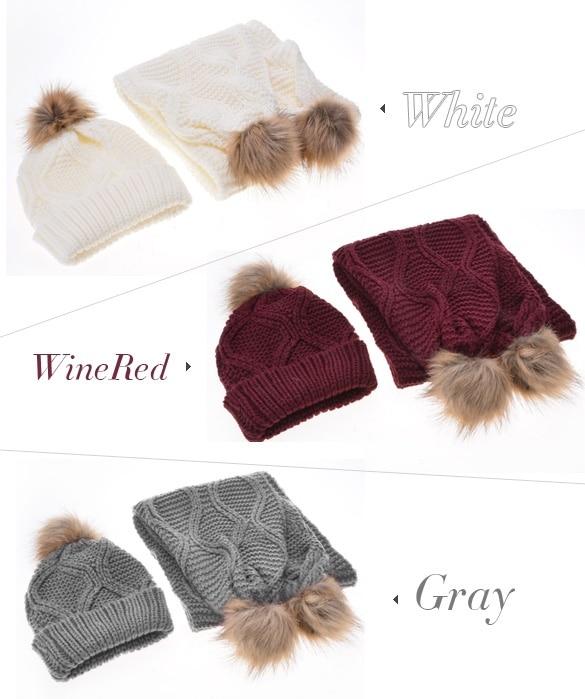 2016 Mode Frauen Strickmützen Und Schal Winter Im Freien Warme Casquette Femme Ful Pompom Hüte Beiläufige Kappe Und Schal Set Kaufe Jetzt