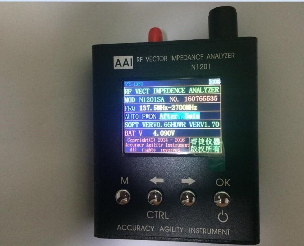 140 MHz-2.7 GHz Nuovo Inglese verison con istruzioni Enlish UV RF Impedenza di Vettore ANT SWR Meter Analyzer Antenna Tester