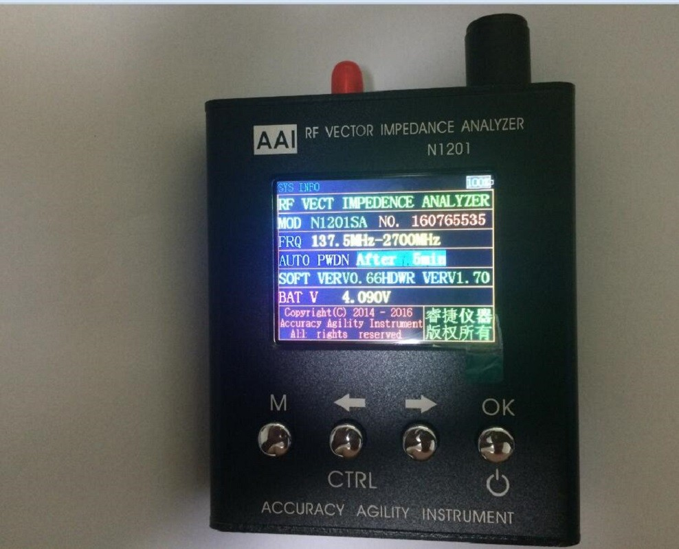 140MHz - 2.7GHz New English verison with Enlish instructions UV RF Vector Impedance ANT SWR Antenna Analyzer Meter Tester