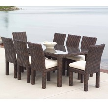 Sigma discount all weather cheap rattan italian classical style dining room set(China)