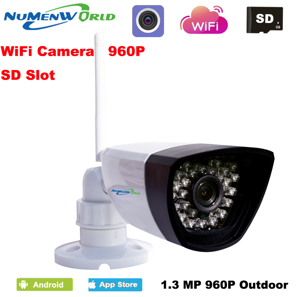 Hot HD Wireless 1.3MP 960P IP Camera Network Onvif Outdoor Security Waterproof Night Vision CCTV security surveillance system wavlink newest a pair powerline av1200 extender power line ethernet adapter dual band wired access point with gigabit port mimo page 1