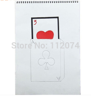 Free Shipping Cardiographic Exclusive Rise Card Prediction 390 260MM Magic Tricks Magic Props