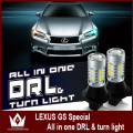 Night Lord  For L-e-xus GS GS300 DRL 7440 WY21W Daytime Running Lights light &Front Turn Signals All in one