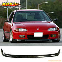Fit 1992-1995 Honda Civic EG 2 3Dr BYS Poly Urethane Front Bumper Lip Spoiler Global Free Shipping Worldwide