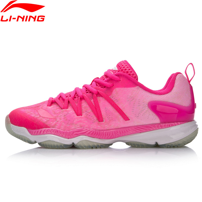Li-Ning Women Professional Ranger Badminton Shoes Breathable Sneakers Wearable Cushion LiNing Sport Shoes AYAM022 XYY071 li ning professional badminton shoe for women cushion breathable anti slippery lining shock absorption athletic sneakers ayal024