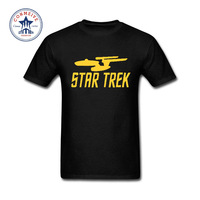 2017 New Summer Funny Tee Summer Star Wars Star Trek Printed Cotton T Shirt For Men