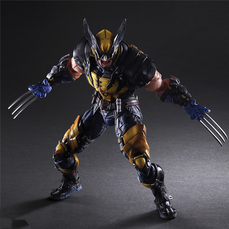 Boxed Movie Play Arts X-MAN Super Hero Wolverine PVC Action Figure Resin Collection Model Toy Gifts Cosplay free shipping cool big 12 justice league of america jla super man superman movie man of steel pvc action figure collection toy