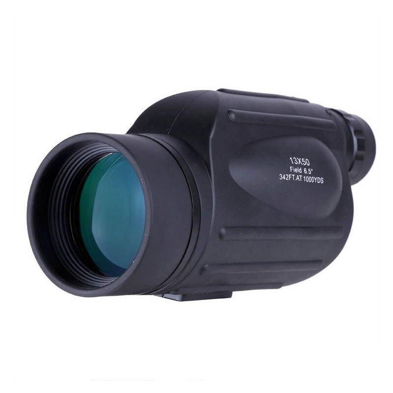 цена на 13x50 Monocular Powerful High Times Telescope Wide-angle Prism Scope Waterproof Outdoor Birdwatching binoculo 114m/1000m