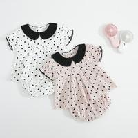Newborn Baby Girls Clothes Summer Baby Clothing Set Polka Dot T Shirt +Shorts 2Pcs Infant Toddler Princess Outfit For Kids