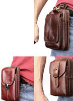 Belt Clip Man Genuine Cow Leather Mobile Phone Case Pouch For Lenovo Vibe X3 P1m S1