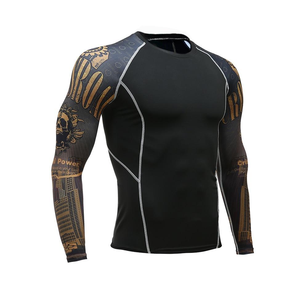 Men Women Fitness Long Sleeve Cycling Base Wear Men Bodybuilding Skin Sport Compression Shirt Bike Training Base Layer clothing