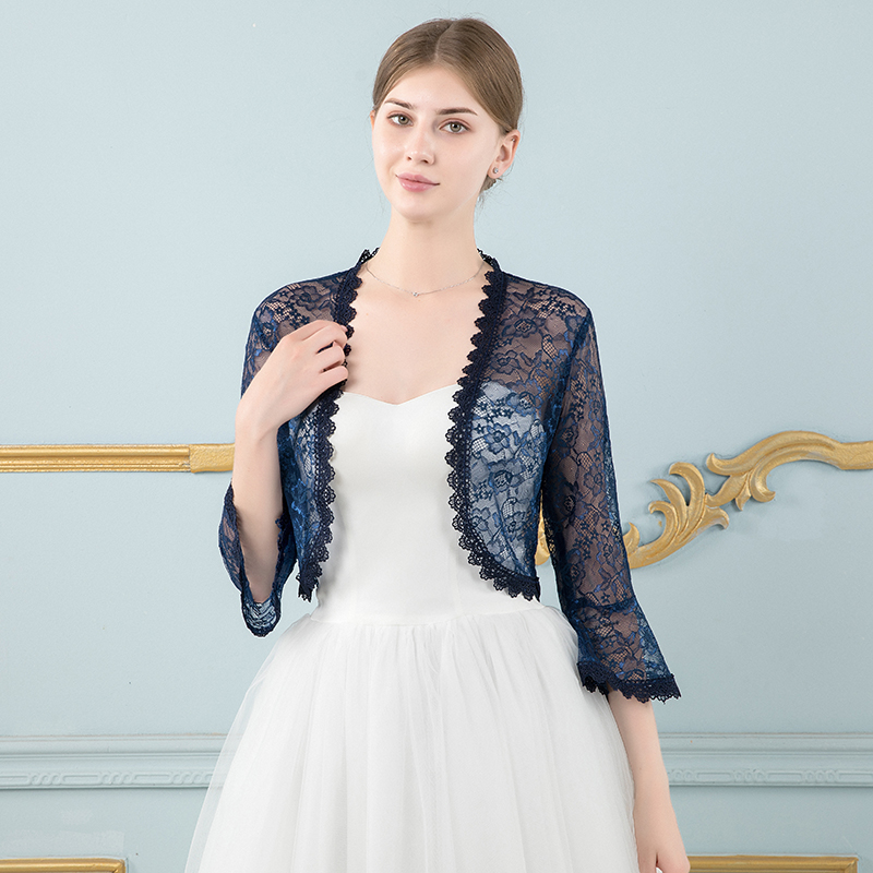 2019 New Arrival Summer Autumn Long Sleeve Lace Jacket Women   Wraps   for Evening Dresses