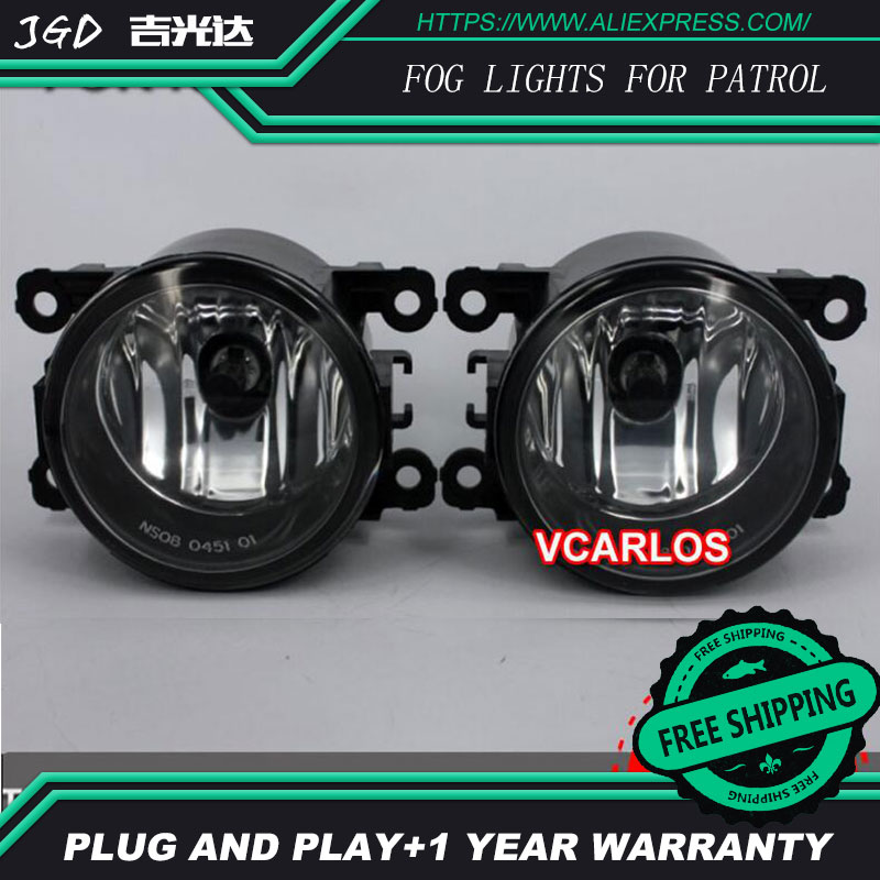 2PCS / Pair LED Fog Light For Nissan Patrol 2005 High Power LED Fog Lamp Auto DRL Lighting Led Headlamp for nissan patrol y62 armada accessories original design fog lamp with chrome fog light cover